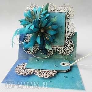 pod choinkę prezent, kartka sztalugowa - szmaragd, ślub, życzenia, pamiątka