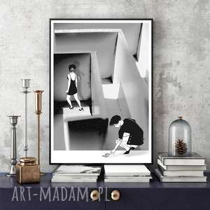 ART PRINT A4, grafika, kolaż, fotografia, format-a4, labirynt, dekoracja