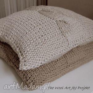 poduszki komplet 2 poszewki - zamówienie p bogumiła, poszewka, poduszka, dziergana