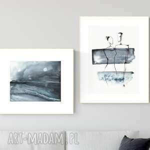 zestaw 2 obrazów wykonanych ręcznie, abstrakcja, 2664399, obraz ręcznie malowany