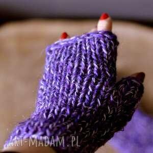 rękawiczki mitenki - nadrutach, wełniane, prezent