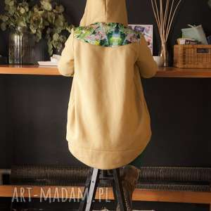 Bluza dresowa z kapturem Jungle - musztardowa, bluza-musztardowa, bluza-z-kapturem