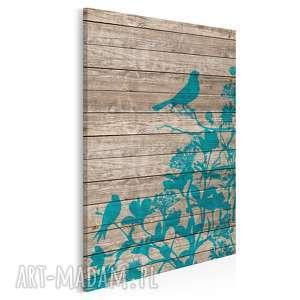 obraz na płótnie - ptaki drewno 50x70 cm (10001)