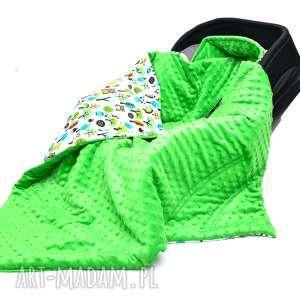 kocyk do fotelika nosidełka sowy w lesie zielony - nosidełko