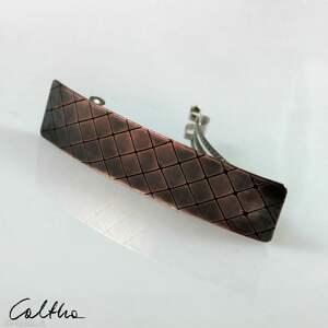 Kratka - miedziana klamra 201212 -02 ozdoby do włosów caltha