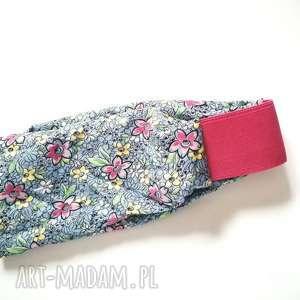 opaska damska materiał gumka wzory wiosna dredy, opaska, kwiaty, rower, plaża, joga