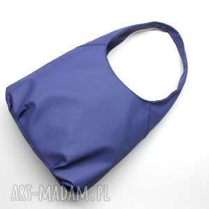ręcznie zrobione pomysł na upominek na święta torba hobo - fioletowa
