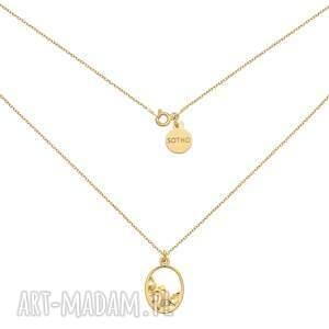 złoty naszyjnik z ozdobną zawieszką - łańcuszek