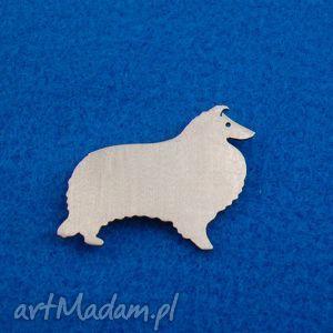 broszka owczarek szetlandzki pies nr 85 - broszka, pies, owczarek, sheltie, prezent