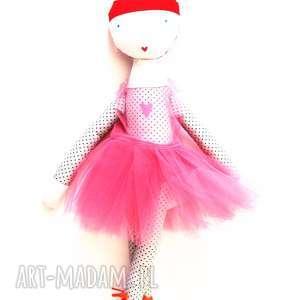 lalki ruda baletowa, balet, tutu, taniec, balerina, szmacianka, bawełna