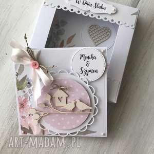 ręcznie zrobione scrapbooking kartki kartka z okazji ślubu ( w pudełku)