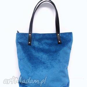 shopper bag, torba, modna, must have, szyta, turkusowa