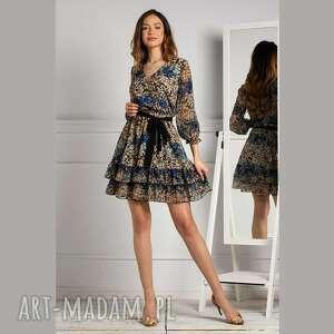 sukienki sukienka neva mini annika, mini, z falbanami