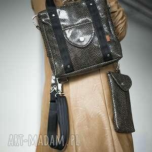 plecak/torebka 2w1 snake glam z saszetką, plecak 2w1, torebka plecak