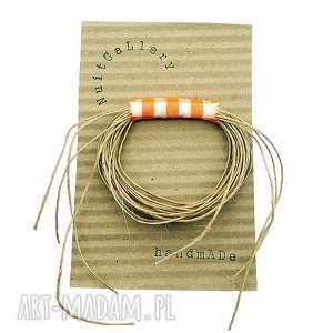 Eko wheel - broszka w kratkę 2, przypinka, broszka, tkanina, krata, kratka, dodatek