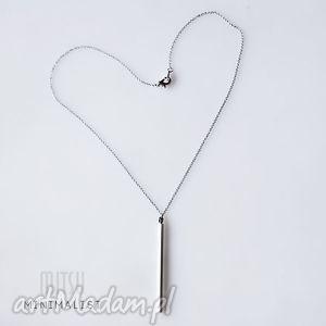 unikalny prezent, naszyjniki srebrny monolit 40 cm, geometryczne, minimalizm, prosty