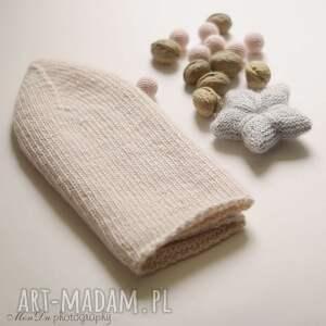 handmade czapki jesienna różana