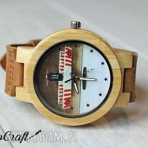 ręczne wykonanie zegarki drewniany zegarek military plane