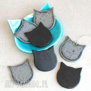 hand made magnesy koty - zestaw magnesów