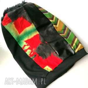 czapki czapka damska etno boho handmade szyta patchworkowo-polecam box waliz
