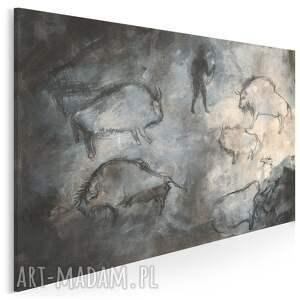 obraz na płótnie - malowidła pierwotny zwierzęta 120x80 cm (701101)