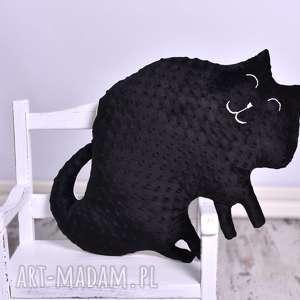 maskotki poduszka dziecięca kot dwustronny, kot, minky, dekoracja