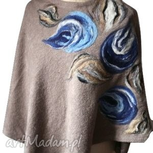 ruda klara poncho tunika i płaszcz magicznego ogrodnika, wełna