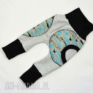 samoloty legginsy, spodnie, baggy, pumpy dla chłopca, niemowląt, bawełniane