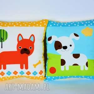para poduszek - pieski dwa - poduszka, dziecko, piesek, niemowlę, urodziny, zestaw