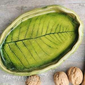 Półmisek ceramiczny paproć c107 ceramika shiraja półmisek