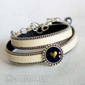 ręcznie robione bransoletki bransoletka z sercem