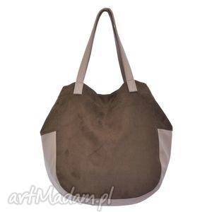 24-0020 Brązowa torebka damska worek / torba na studia SWALLOW, duże, modne, torebki