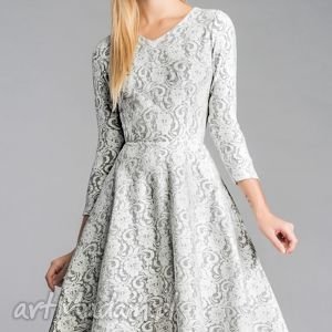 Sukienka FLER Midi Noemi, sukienka, koło, midi, koronka, mięciutka, rozkloszowana