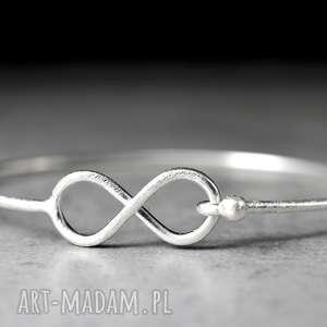 madamlili infinity 925 srebrna bransoletka - nieskończoność