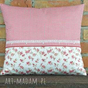mg home decor poduszka dekoracyjna kratka z motywem 40x45cm, bawełna, prezent