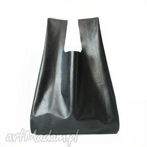 wyjątkowy prezent, torba minimo nero, torba, skóra, naturalna, uszyta, szyta