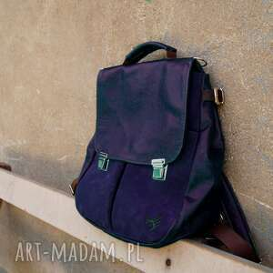lilith chimera plecak/torba granatowa skóra pull up, granat, piękny, pojemny