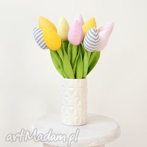 jobuko bawełniane tulipany, tulipan, bawełniane, materiałowe, bukiet