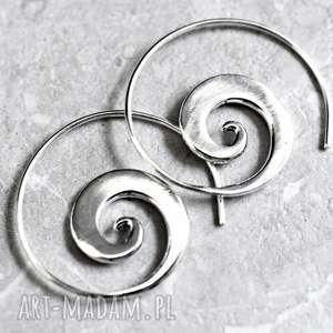 Circle of Life posrebrzane kolczyki spirale , spirale, kolczyki, posrebrzane, srebrny