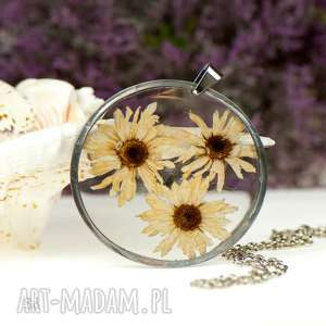 z88 naszyjnik z prawdziwym kwiatem w żywicy (naszyjnik z kwiatem, biżuteria z)
