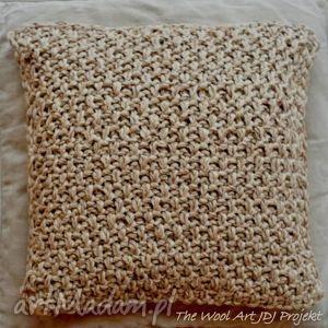 the wool art poszewka na poduszkę, poszewka, poduszka, beżowa, bawełniana