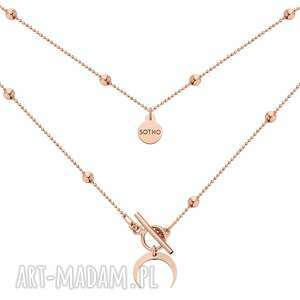 naszyjnik z różowego złota z księżycem - różowe złoto