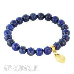 lapis lazuli with leaf pendant - listek