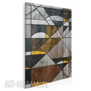 obraz na płótnie - abstrakcja geometria w pionie 50x70 cm 16403