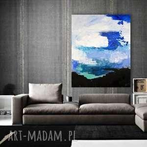 ABSTRAKCJA obraz na w 100% bawełnianym płótnie 100x80cm artystki plastyka Adriany