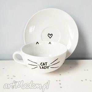 filiżanka love cat - ,cat,love,kot,kotek,catlady,filiżanka,