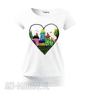 bawełniana wygodna bluzka damska - ręcznie malowana, bluzka, koszulka, bawełna