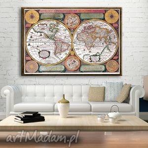 ehomi obraz na płótnie stara mapa 120x80 cm, obraz, staramapa dom