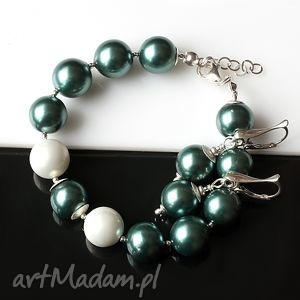 świąteczny prezent, perły seashell, perły, srebro, błyszczący, elegancki