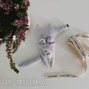 handmade maskotki wilczek i love you